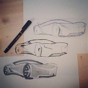 car fast sketch